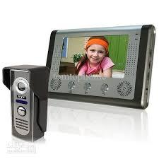front door video camera 7 inch video door phone door bell intercom kit camera monitor