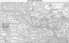 Map Of The Upper Peninsula Michigan by The Soo Line The Minneapolis St Paul And Sault Ste Marie Railway