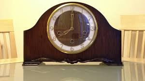 Antique Mantel Clocks Value Smiths Enfield Westminster Chime Mantle Clock Front Youtube