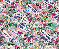 vans 50th anniversary sticker pack on behance foot locker x vans sk8 hi the sticker pack