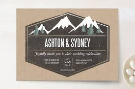 mountain wedding invitations rustic mountain wedding invitations by karidy walker minted