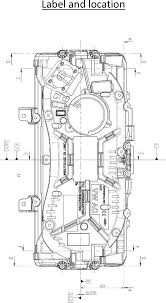 automotive floor plans 5na920791a immobilizer system id label location info label