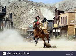 cowboy shootout at spaghetti western film set oasys mini stock