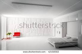 interior modern bedroom panorama 3d render stock illustration