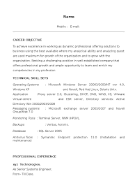 Senior System Administrator Resume Sample by Resume Wintel Administrator Resume