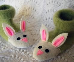 fuzzy bunny slippers from recycled sweaters and felt details 5