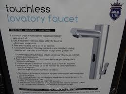 Touchless Bathroom Faucets by Touchless Lavatory Faucet Royal Line