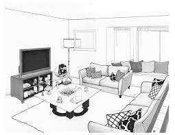 living room interior design drawing mimiku