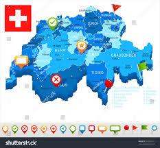 Va Flag Switzerland Map Flag Highly Detailed Vector Stock Vector 652658131
