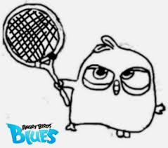angry birds blues blue tennis racket angrybirdstiff