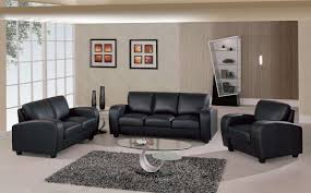 Black Leather Sofa And Chair Grey Living Room Color Schemes Color Scheme Living Room With