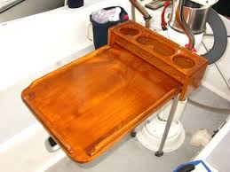 boat tables for cockpit boat projects homemade teak cockpit table