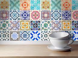 kitchen tile stickers spanish kitchen backsplash traditional
