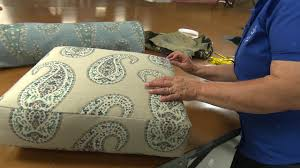 How To Cover Patio Cushions by How To Recover A Cushion On A Recliner Youtube