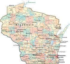Map Of Wisconsin by Wisconsin