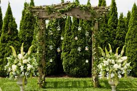 wedding backdrop outdoor shabby chic pink altar arch arrangements garden outdoor