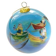 ornament painted bulb quidi vidi mummers in velvet box