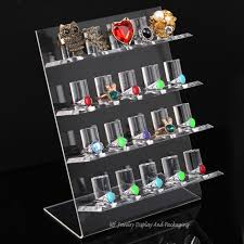 acrylic crystal ring holder images Acrylic high quality 4 layer ring display stand 20 rings holders jpg
