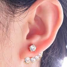 left side earring aliexpress buy personality stud earrings lovely