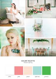 color palette vibrant spring cake and lace wedding