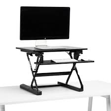 black small peak adjustable height standing desk riser