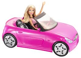 pink convertible cars amazon com barbie glam pink convertible and barbie doll toys u0026 games