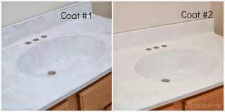 Bathroom Sinks And Cabinets by Remodelaholic Painted Bathroom Sink And Countertop Makeover