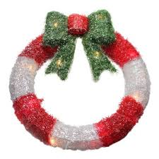 large lighted christmas bow large lighted christmas wreath wayfair