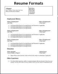 formats for a resume 51 teacher resume templates u2013 free