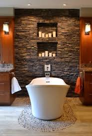 25 amazing stone accent walls spa inspired bathroom spa and