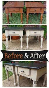 distressed black end table matching end tables in distressed black oatmeal before and after