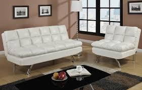 white leather futon sofa ivory leather sofa bed futon