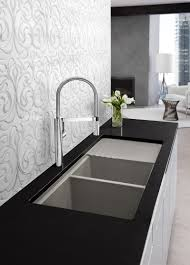 sinks faucets modern stylish chrome pull down kitchen faucets on large size of stylish contemporary chrome pulldown kitchen faucets double bowl undermount kitchen sink black granite