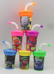 favor cups 6 trolls stickers birthday sipper cups with lids party favor cups