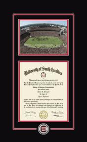 of south carolina diploma frame of south carolina spirit medallion stadium diploma