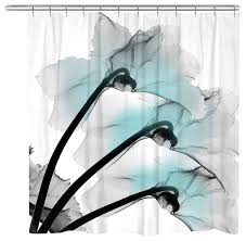 Orchid Shower Curtain Blue Orchids X Ray Flowers Shower Curtain Contemporary Shower
