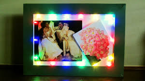 diy led frame learn how to make a fairy light frame for special
