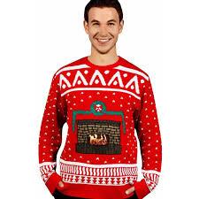 knit crackling fireplace ugly christmas sweater men u0027s