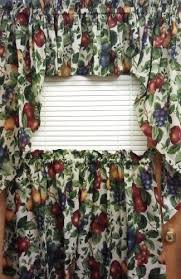 Grapes Kitchen Curtains Amazon Com Sonoma Fruit Pattern Valance Home U0026 Kitchen