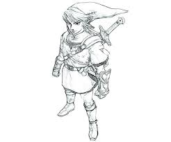 Coloriages Zelda Wind A Coloriage Zelda Link  hanamamainfo