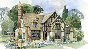 English Tudor Home Cottage House Plans Cottage New South Classics Llc