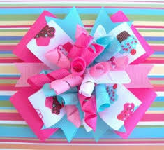 korker bows cupcake birthday pink aqua korker hair bow m2mg cutie all things