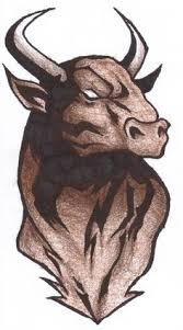 fabulous tattoo design of bull jpg 816 1451 taurus pinterest