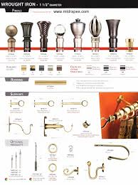 Designer Metals Decorative Traverse Rods by Drapery Rods Decorative Wrought Iron Finishes Easy Installation