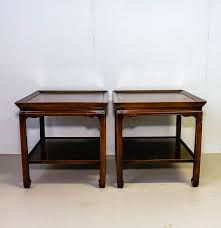 Henredon Coffee Table by Heritage Henredon Leather Top Mahogany Accent Table Pair Ebth