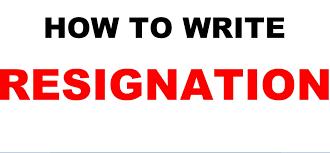resignation letter sample video l write one month prior notice l