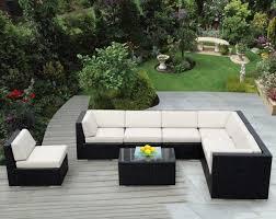 canapé tressé jardins et terrasses canapé angle extérieur résine tressée salon