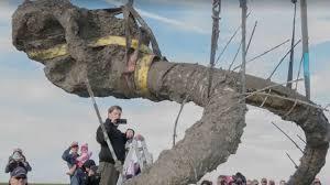unsuspecting farmer uncovers bones ice age mammoth