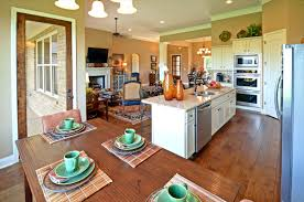 Kitchen Livingroom by Kitchen Gorgeous Long Living Room With Open Plan Kitchenette And