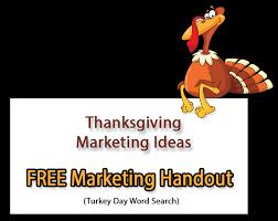 thanksgiving marketing ideas free thanksgiving word search handout
